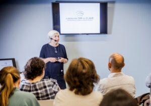 Conferencia en sala de reuniones